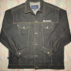 Vintage 90s Phat Farm denim jacket jean black y2k